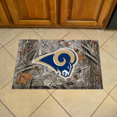"St Louis Rams Scraper Mat 19""x30"" - Camo"