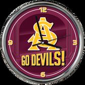 Arizona State Sun Devils Go Team! Chrome Clock
