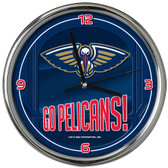 New Orleans Pelicans Go Team! Chrome Clock
