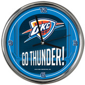 Oklahoma City Thunder Go Team! Chrome Clock