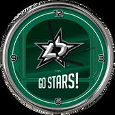 Dallas Stars Go Team! Chrome Clock