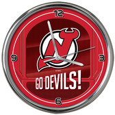 New Jersey Devils Go Team! Chrome Clock