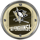 Pittsburgh Penguins Go Team! Chrome Clock