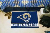 """St. Louis Rams Worlds Best Dad Starter Rug 19""""x30"""""""
