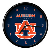 Auburn Tigers Black Rim Clock - Basic