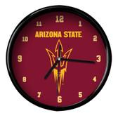 Arizona State Sun Devils Black Rim Clock - Basic