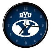 Brigham Young Black Rim Clock - Basic