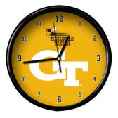 Georgia Tech Yellow Jackets Black Rim Clock - Basic