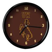 Wyoming Cowboys Black Rim Clock