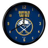 Buffalo Sabres Black Rim Clock - Basic