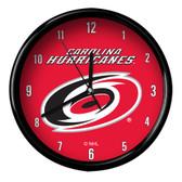 Carolina Hurricanes Black Rim Clock - Basic