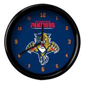 Florida Panthers Black Rim Clock - Basic