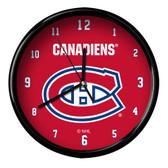 Montreal Canadiens Black Rim Clock - Basic