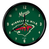Minnesota Wild Black Rim Clock - Basic