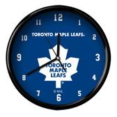 Toronto Maple Leafs Black Rim Clock - Basic