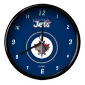 Winnipeg Jets Black Rim Clock - Basic
