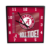 Alabama Crimson Tide Go Team! 12in Square Clock