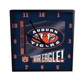 Auburn Tigers Go Team! 12in Square Clock