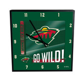 Minnesota Wild Go Team! 12in Square Clock