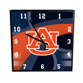 Auburn Tigers Carbon Fiber 12in Square Clock