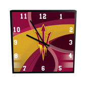 Arizona State Sun Devils Carbon Fiber 12in Clock