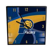 Indiana Pacers Carbon Fiber 12in Square Clock