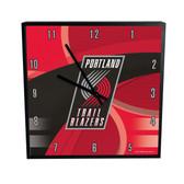 Portland Trail Blazers Carbon Fiber 12in Square Clock