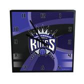 Sacramento Kings Carbon Fiber 12in Square Clock