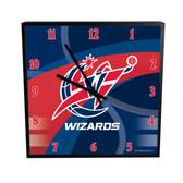 Washington Wizards Carbon Fiber 12in Square Clock
