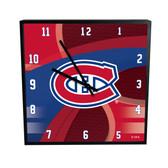 Montreal Canadiens Carbon Fiber 12in Square Clock