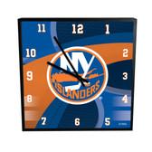 New York Islanders Carbon Fiber 12in Square Clock