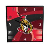 Ottawa Senators Carbon Fiber 12in Square Clock