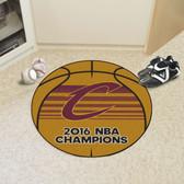 "Cleveland Cavaliers 2016 NBA Finals Champions Basketball Rug 27"" Diameter"