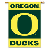 """Oregon Ducks 2-Sided 28"""" X 40"""" Banner W/ Pole Sleeve"""