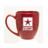 US Army Deep Etched 15oz Red Bistro Mug