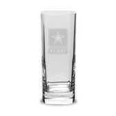 US Army Deep Etched 13.5 oz. Square Round Tall Double Old Fashion Glass