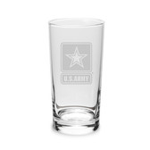 US Army Deep Etched 10oz Highball Glass