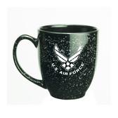 US Air Force Deep Etched 15oz Black Bistro Mug