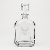 US Air Force Deep Etched Whiskey Decanter