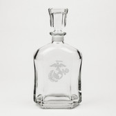 US Marines Deep Etched Whiskey Decanter