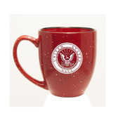 US Navy Deep Etched 15oz Red Bistro Mug