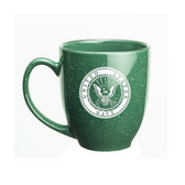 US Navy Deep Etched 15oz Green Bistro Mug