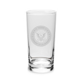 US Navy Deep Etched 10oz Highball Glass