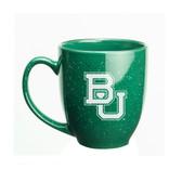 Baylor Bears 15 oz. Deep Etched Green Bistro Mug