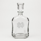 Notre Dame Fighting Irish Deep Etched Whiskey Decanter