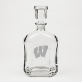 Wisconsin Badgers Deep Etched Whiskey Decanter