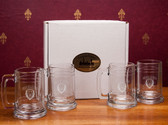 Columbia University Deep Etched Colonial Tankard Set of 4