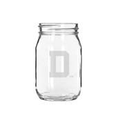 Dartmouth College 16 oz. Deep Etched Old Fashion Drinking Jar