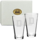 Dartmouth College Deep Etched Classic Pub Glass Set of 2