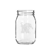 Memphis Tigers 16 oz. Deep Etched Old Fashion Drinking Jar